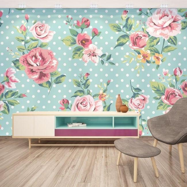 Adesivi murali con fiori da decorare