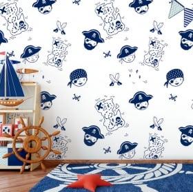 Murales per bambini o giovani sirena mondo marino