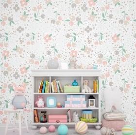 Murales di vinile adesivo con i fiori