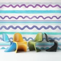 Murales di vinile adesivo tratti colorati