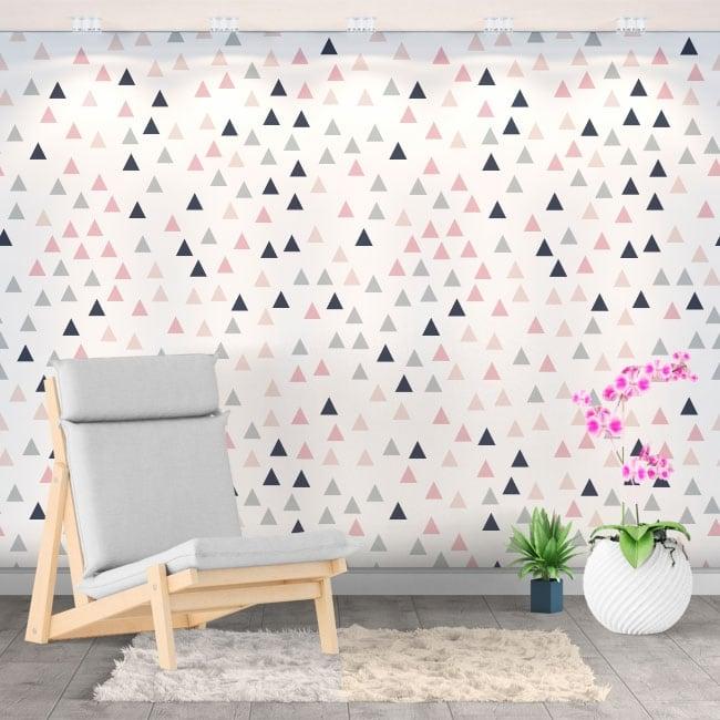 Murales in vinile triangoli colorati