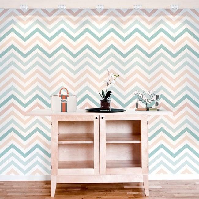 Murali in vinile adesivo linee o tratti a zig-zag