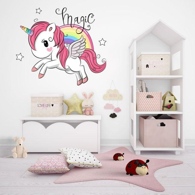 Vinili e adesivi per bambini magia di unicorno