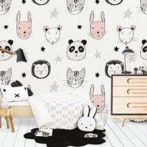 Murales in vinile animali e stelle
