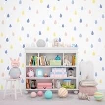 Murali di vinile adesivo gocce di colori