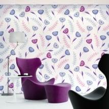 Murales in vinile fiori viola