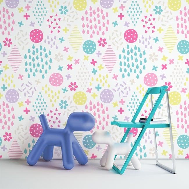 Murales di adesivi forme geometriche