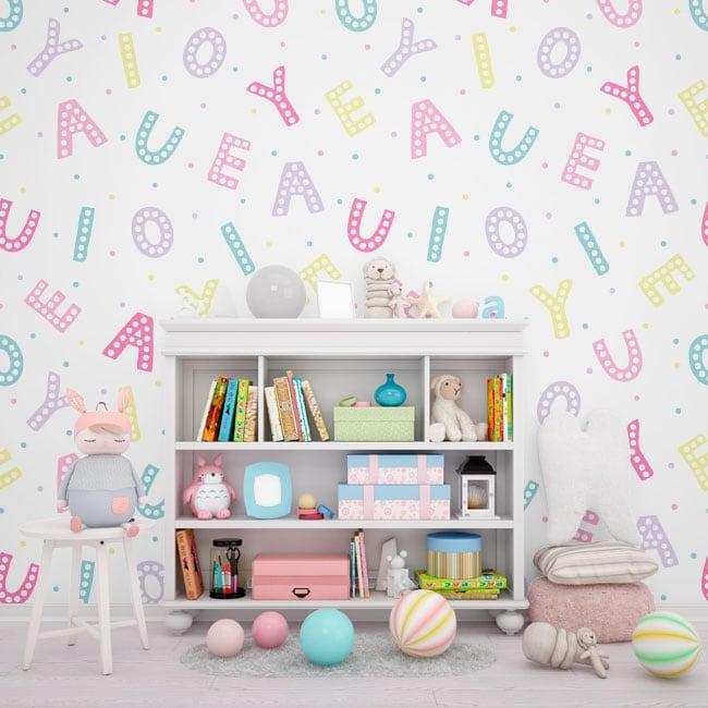 Murali di vinile adesivo lettere dell'alfabeto