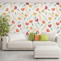 Murali di vinile adesivo con fiori retrò