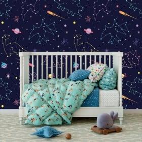 Murales in vinile stelle colorate