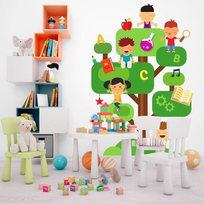 Vinile e adesivi per bambini l'albero della conoscenza