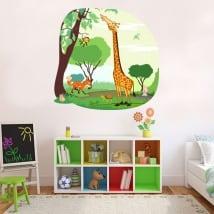 Vinile e adesivi per bambini animali della giungla