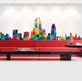 Vinile decorativo e adesivi skyline parigi