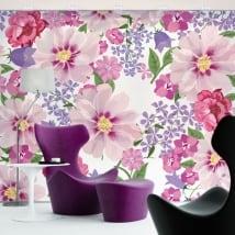 Murali di vinile adesivo fiori da decorare