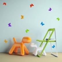 Vinile decorativo e adesivi farfalle origami