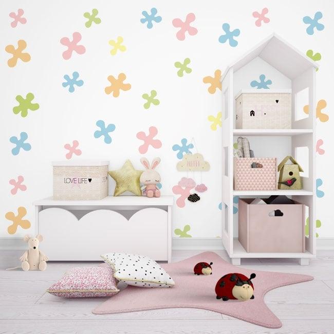 Murales per bambini o giovani forme di colori