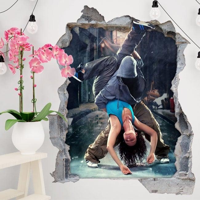 Vinile decorativo e adesivi danza urbana 3d