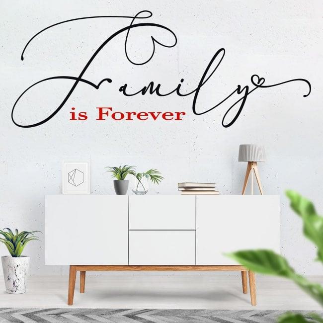 Vinili frasi inglesi motivatori family is forever