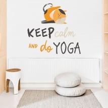 Vinile decorativo frasi inglesi keep calm yoga
