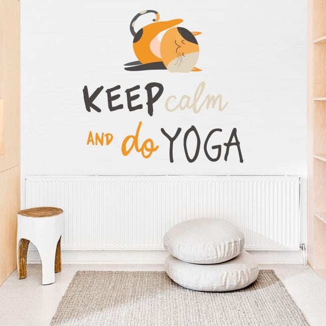 Vinile decorativo frasi inglesi keep calm yoga