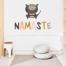 Vinile decorativo frasi yoga in inglese namaste