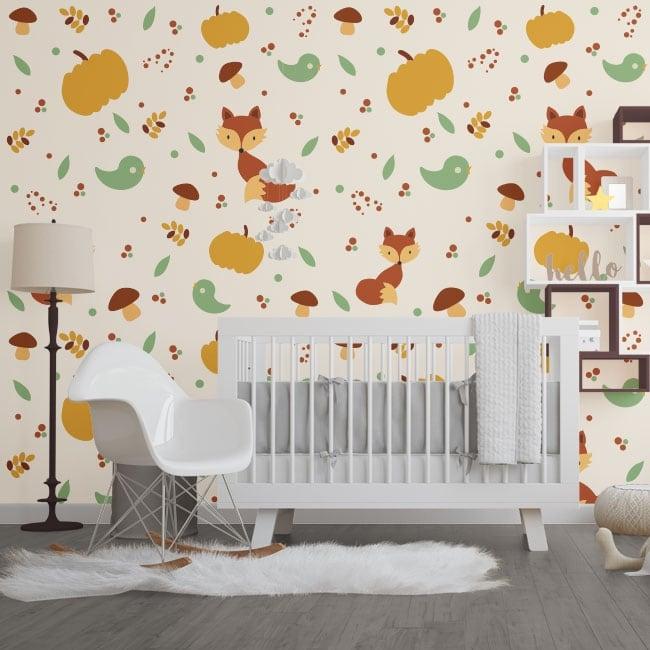 Murales in vinile animali da bambini