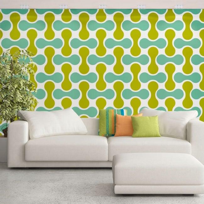 Murales di adesivi stile retrò
