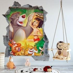 Vinile decorativo e adesivi murali cane 3d