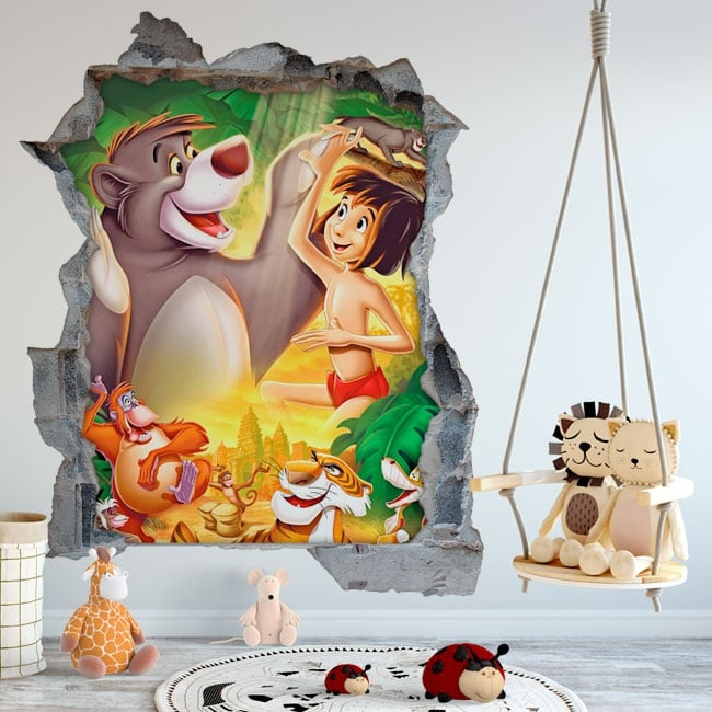 Vinili muri il libro della giungla buco 3d