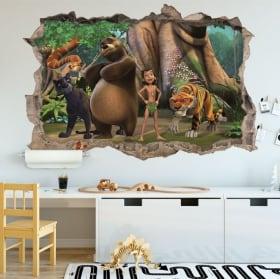 Vinile decorativo zoo per bambini 3d