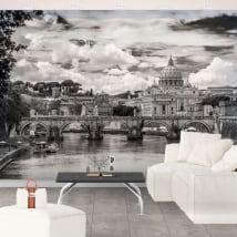 Murales basilica di san pedro vaticano roma italia