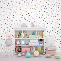 Gigantografie di vinile muri piccoli spruzzi di colori