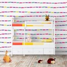 Gigantografie vinili muri tratti colorati