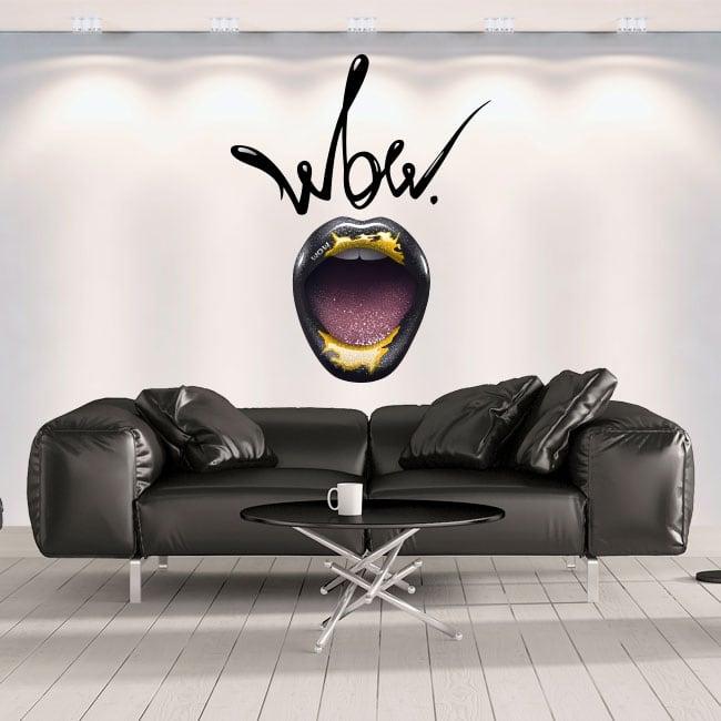 Vinile decorativo muri bocca wow