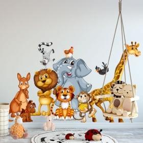 Vinile decorativo animali da bambini o giovani
