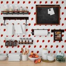 Gigantografie vinili muri cucine fragole