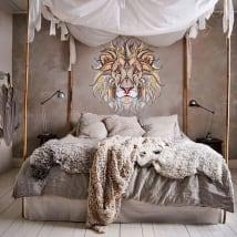 Vinile decorativo muri leone tribale