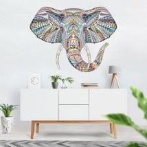 Vinile decorativo elefante tribale