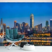 Murales in vinile cina chongqing city