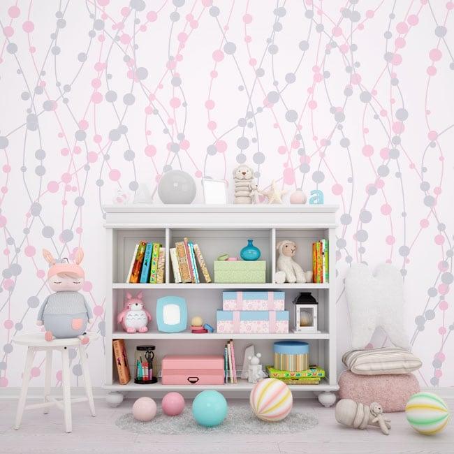 Murales per bambini o giovani linee e cerchi