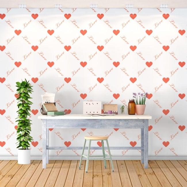 Murales romantici cuori amare