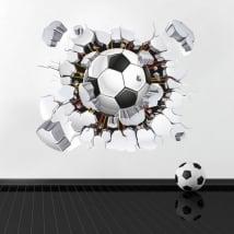 Vinile e adesivi pallone da calcio 3d