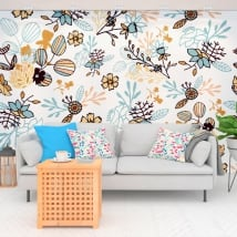 Murales in vinile fiori natura