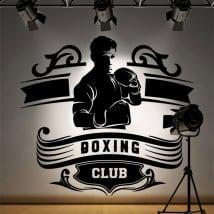 Vinile decorativo club di boxe silhouette uomo