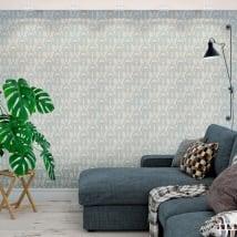 Murales in vinile con stile vintage