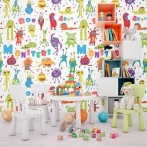 Murales in vinile mostri dei bambini