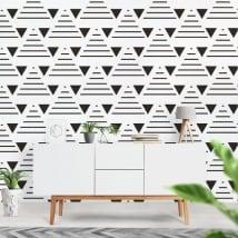 Murale in vinile con triangoli e linee