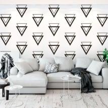 Murale in vinile con triangoli