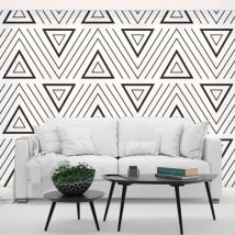 Adesivi murali in vinile triangoli di stile retrò
