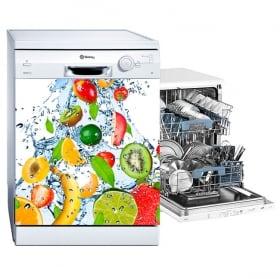 Vinile per lavastoviglie collage di frutta